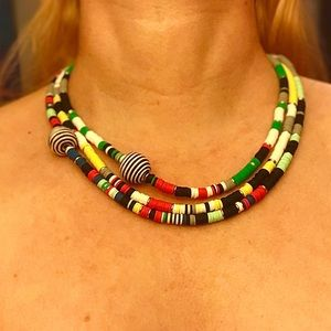 Handcrafted Heishi Bead Layer Necklace